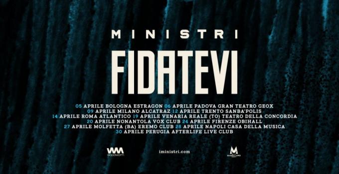"""MINISTRI: """"Fidatevi"""" è il titolo del nuovo album in uscita a marzo per Woodworm e del nuovo Tour in partenza il 5 aprile da Bolo"""